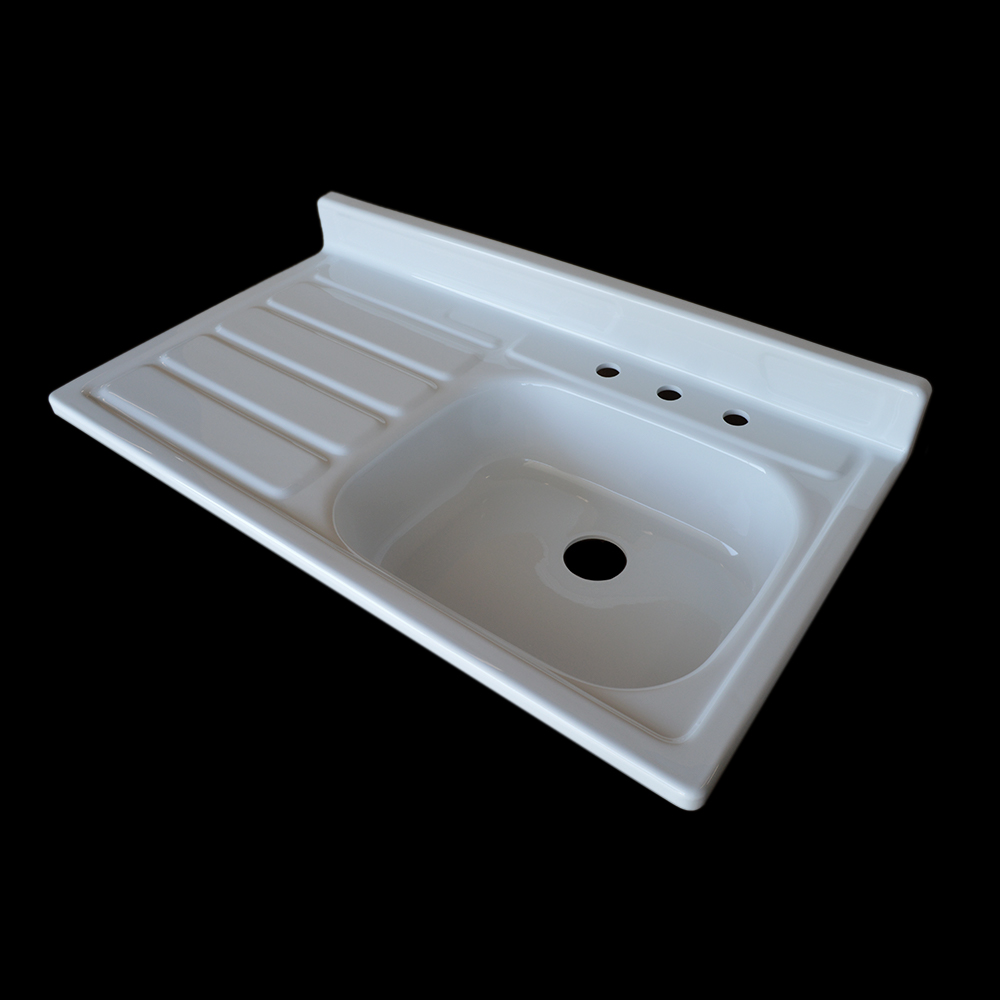 Single Bowl Left Side Drainboard Sink - Model #SBW4224 NBI ...