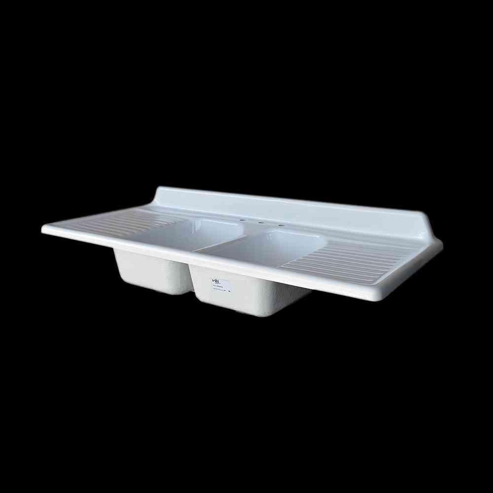Double Bowl Drainboard Sink Model Dbdw6025 Nbi Drainboard Sinks