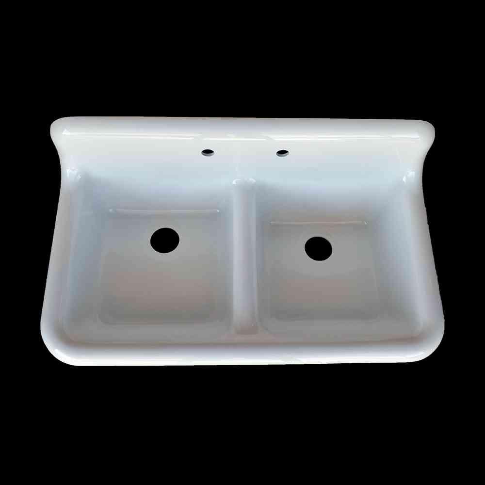 Double Basin High Back Farmhouse Style Sink Model