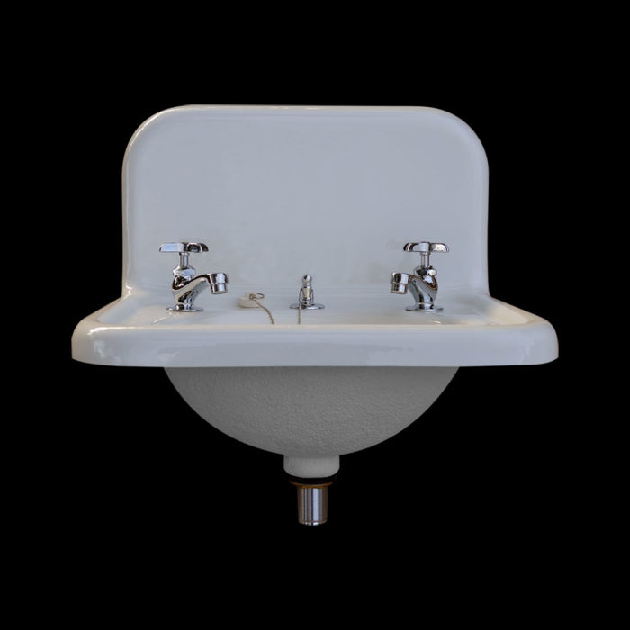 nbi vintage reproduction bathroom sink model bs2018 front view