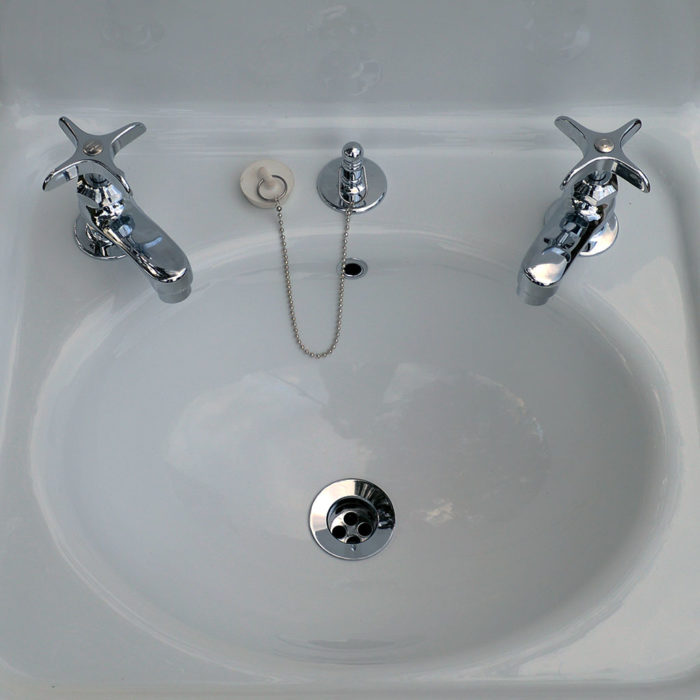 nbi vintage reproduction bathroom sink model bs2018 closeup top view
