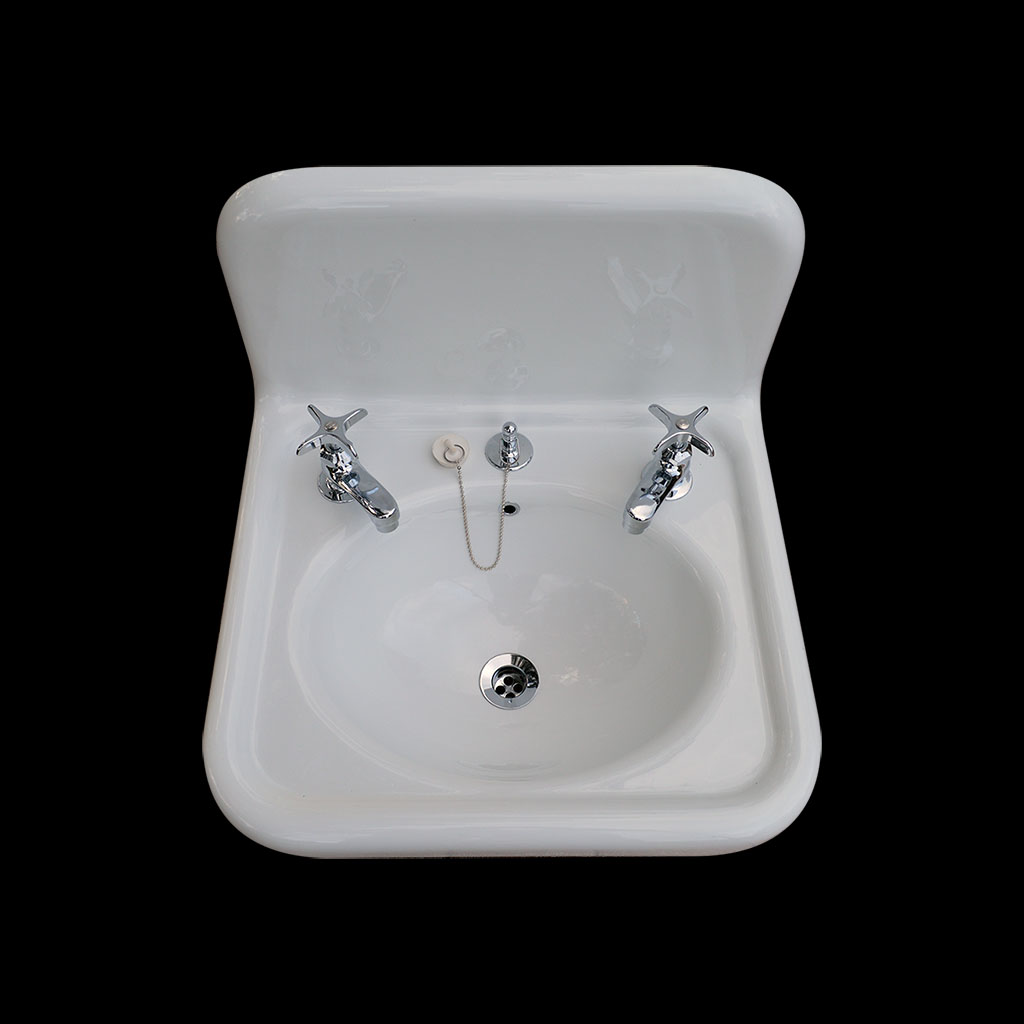 nbi vintage reproduction bathroom sink model bs2018 top view