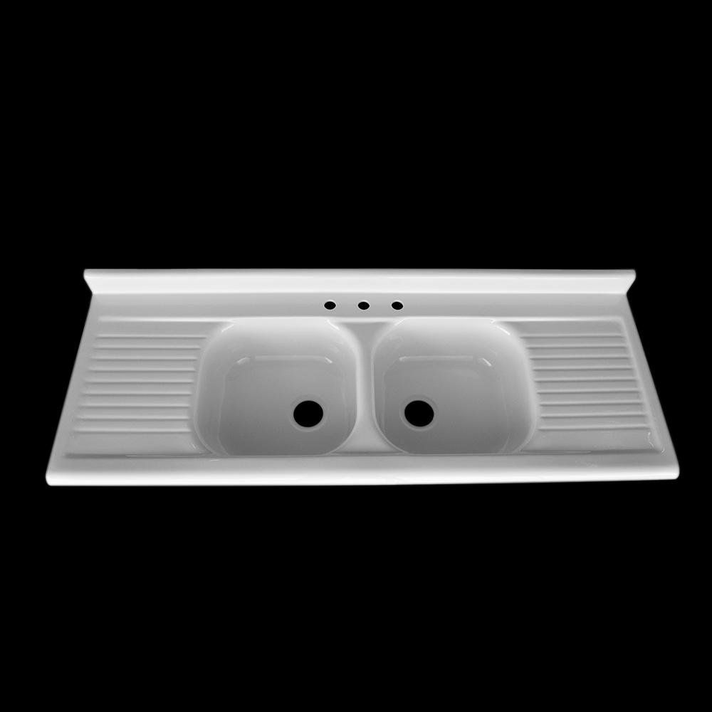 Double Bowl Double Drainboard Sink Model Dbdw6625 Nbi