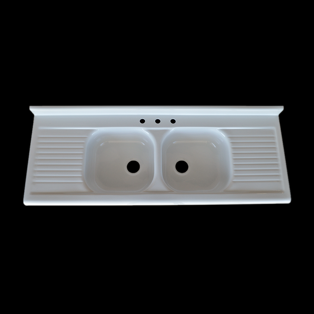 Double Bowl Double Drainboard Sink - Model #DBDW4